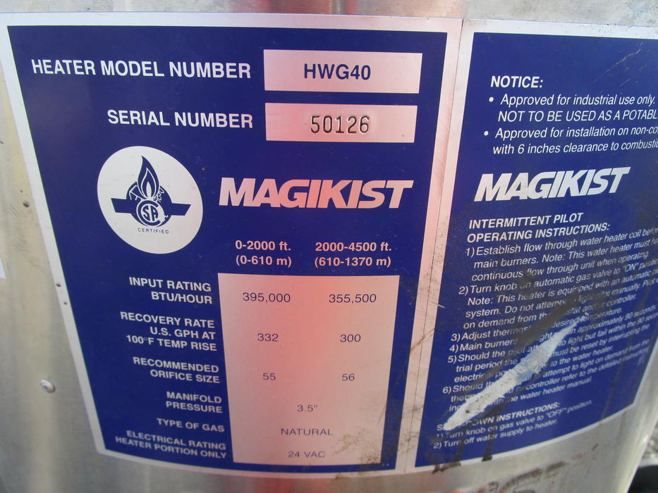 Magikist hwg-40 manual
